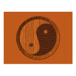 Wooden Yin Yang Postcard