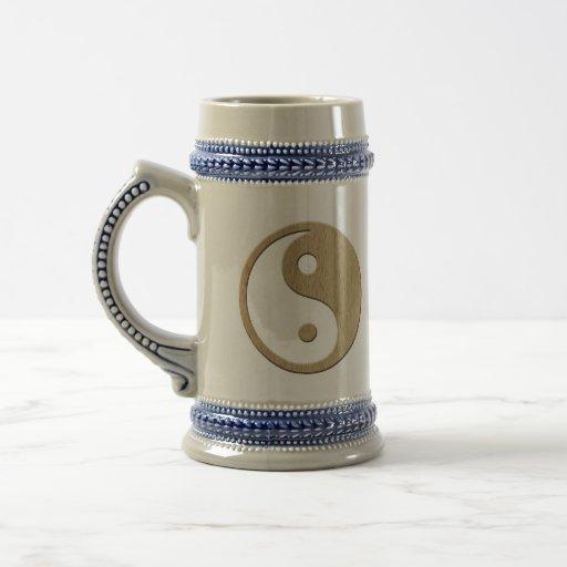 Wooden Yin Yang Symbol Mugs