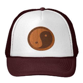Wooden Yin Yang Trucker Hat