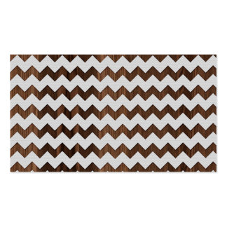 Wooden Zig Zag with white fabric Image Print Business Cards