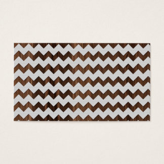 Wooden Zig Zag with white fabric Image Print Business Card