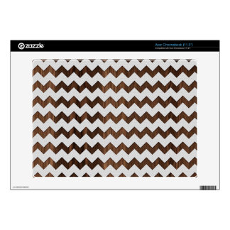 Wooden Zig Zag with white fabric Image Print Skins For Acer Chromebook