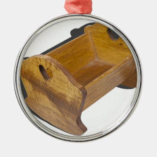 WoodenBabyCradle103013.png Metal Ornament