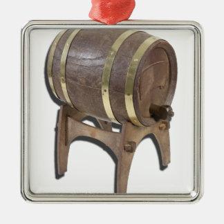 WoodenBarrelOnStand091612 copy.png Metal Ornament