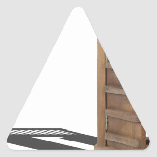 WoodenCastleDoorBarUnlocked021613.png Triangle Sticker