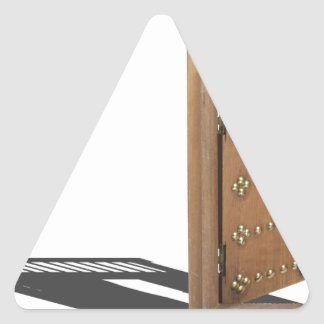 WoodenCastleOpenDoorBrass021613.png Triangle Sticker