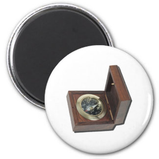 WoodenCompass081212.png 2 Inch Round Magnet