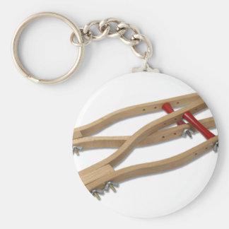 WoodenCrutches081210 Basic Round Button Keychain