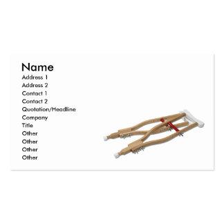 WoodenCrutches081210, nombre, dirección 1, Tarjetas De Visita