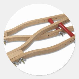 WoodenCrutches081210 Pegatina Redonda