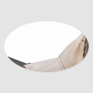 WoodenHandHoldDynamite021613.png Oval Sticker