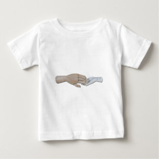 WoodenHandPalmReading100712 copy.png Baby T-Shirt