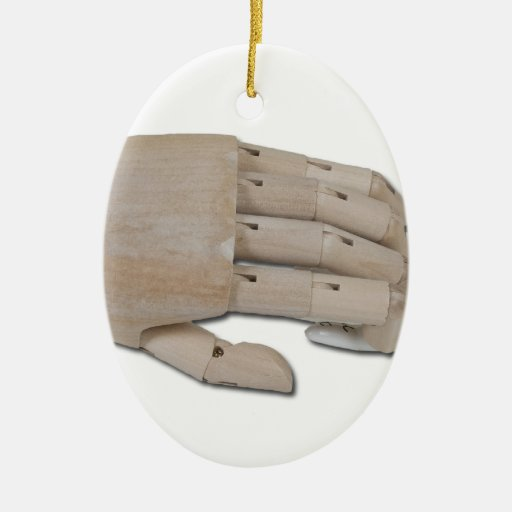 WoodenHandPalmReading100712 copy.png Double-Sided Oval Ceramic Christmas Ornament