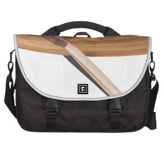 WoodenRowboatWithOars050314.png Laptop Messenger Bag