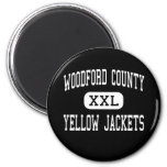 Woodford County - Yellow Jackets - Versailles Refrigerator Magnet