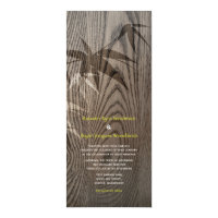 Woodgrain Bamboo Leaves Chinese Wedding Invite
