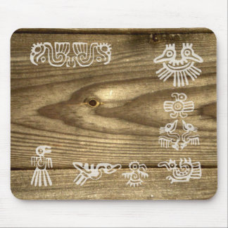 Woodgrain Bird Spirit Mouse Pad