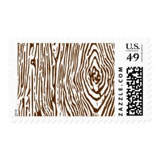 Woodgrain - Brown Postage
