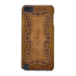 Woodgrain Embossed Look Custom Personalized iPod Touch (5th Generation) Cover
