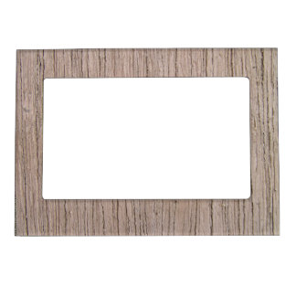 Woodgrain Faux Bois Rustic Wood Pattern Magnetic Picture Frame