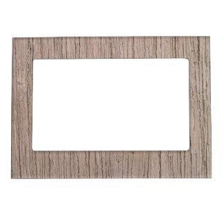Woodgrain Faux Bois Rustic Wood Pattern Magnetic Photo Frame