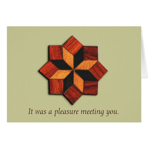 Woodgrain Inlay Interview Thank You Card