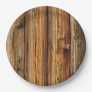 Woodgrain Paper Plate