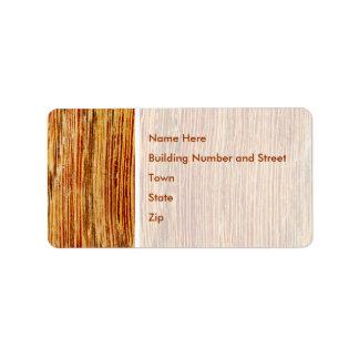 Woodgrain Pattern Image. Label