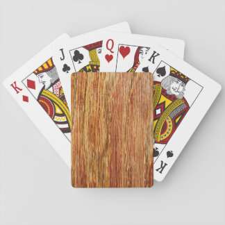 Woodgrain Pattern Image. Deck Of Cards