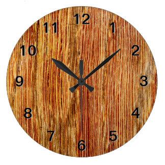 Woodgrain Pattern Image. Wallclock