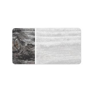 Woodgrain Picture. Label