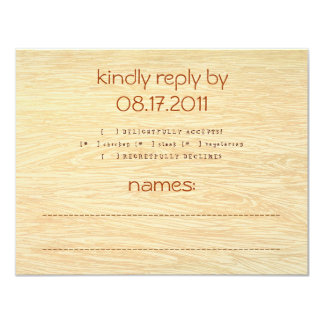 Woodgrain Response Card
