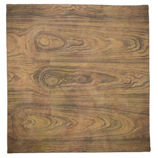 Woodgrain Rustic Country cowboyWedding Cloth Napkin