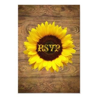 """Woodgrain Rustic Country cowboyWedding 3.5"""" X 5"""" Invitation Card"""