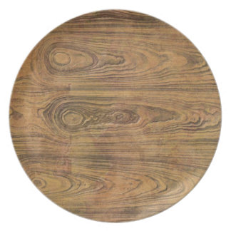 Woodgrain Rustic Country cowboyWedding Dinner Plates