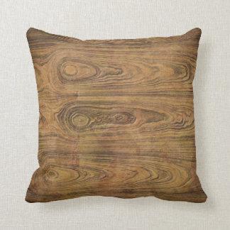 Woodgrain Rustic Country cowboyWedding Throw Pillow