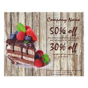 cake flyers zazzle