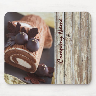 woodgrain rustic dessert chocolate cake bakery mouse pad