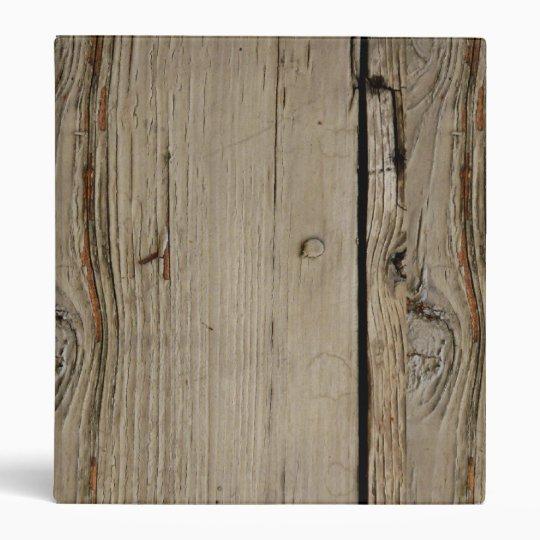 Woodgrain School Notebook Binder