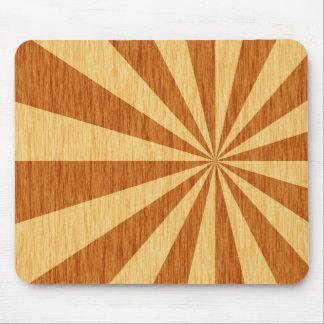 woodgrain starburst pattern mouse pad