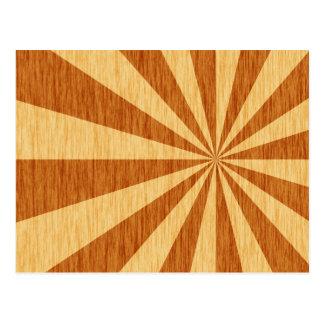 woodgrain starburst pattern postcard