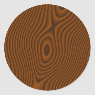 Woodgrain Textured Classic Round Sticker