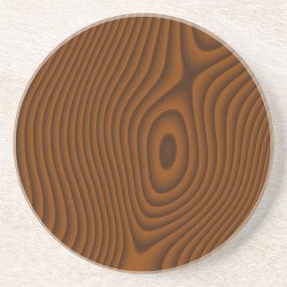 Woodgrain Textured Drink Coaster