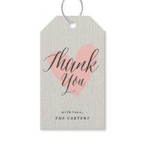 Woodgrain thank you Gift Tag