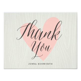 Woodgrain thank you notecard