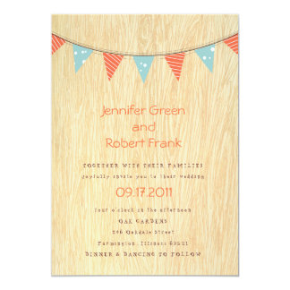 Woodgrain with Banner Invitation