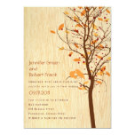 Woodgrain with Love Birds in Tree - Autumn Card