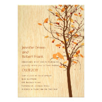 Woodgrain with Love Birds in Tree - Autumn Announcement