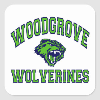 Woodgrove Wolverines Square Sticker
