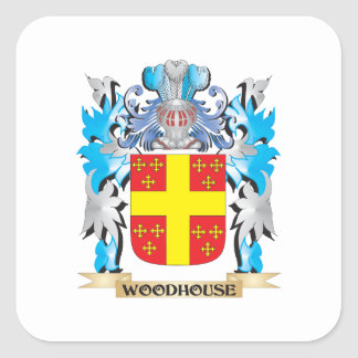 Woodhouse Coat of Arms - Family Crest Square Sticker